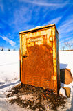 Scatola elettrica arrugginita Fotografia Stock