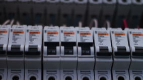 Scatola elettrica di commutazione dell'interruttore archivi video