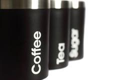 Scatola metallica C dello zucchero del caffè del tè Immagine Stock Libera da Diritti