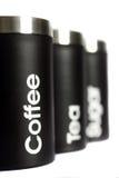 Scatola metallica D dello zucchero del caffè del tè Fotografie Stock Libere da Diritti