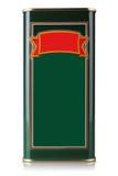 Scatola metallica di olio d'oliva Fotografia Stock