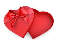 Scatola nella forma del cuore Fotografie Stock