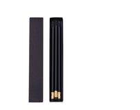 Scatola nera con le matite nere Immagine Stock Libera da Diritti