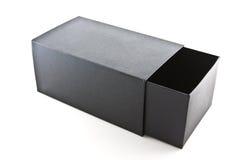 Scatola nera su bianco isolata Immagini Stock