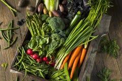 Scatola organica cruda del mercato degli agricoltori della primavera Immagine Stock Libera da Diritti