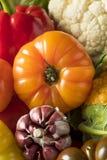 Scatola organica sana del mercato degli agricoltori di estate Immagini Stock Libere da Diritti
