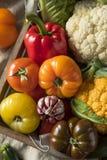 Scatola organica sana del mercato degli agricoltori di estate Fotografie Stock Libere da Diritti