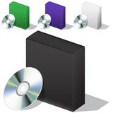 Scatola per il DVD con un disco Fotografia Stock