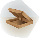 Scatola per l'imballaggio fatto di cartone Apra, parteggi e completi Fotografie Stock Libere da Diritti