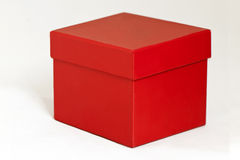 Scatola rossa Fotografia Stock