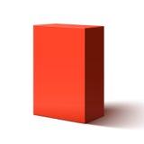 Scatola rossa in bianco illustrazione di stock