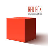 Scatola rossa in bianco isolata su fondo bianco royalty illustrazione gratis