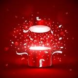 Scatola rossa magica Fotografia Stock