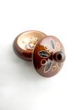 Scatola rotonda con gioielli Fotografia Stock
