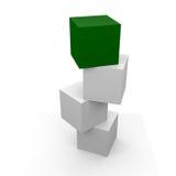 Scatola verde Fotografia Stock
