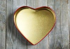 Scatola vuota del cuore Fotografia Stock Libera da Diritti