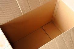 Scatola vuota di cartbord Fotografia Stock Libera da Diritti
