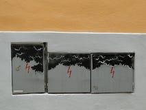 Scatole adorabili di elettricità Fotografie Stock
