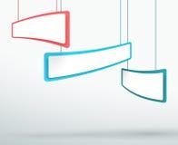 Scatole d'attaccatura Colourful dell'intestazione 3d dell'estratto 3 Immagine Stock