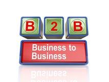 scatole 3d del concetto di b2b Fotografia Stock