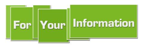 Scatole dei colori di verde di For Your Information illustrazione di stock