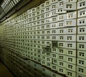 Scatole del deposito bancario Fotografia Stock