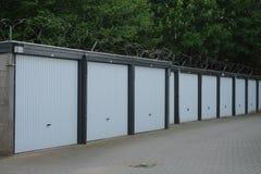 Scatole del garage per affitto Fotografia Stock