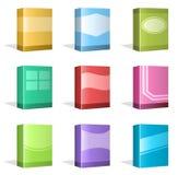Scatole del software, progettazioni della copertina di libro Immagine Stock