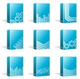 Scatole del software, progettazioni della copertina di libro Fotografia Stock Libera da Diritti