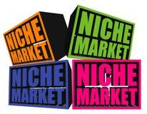 Scatole della nicchia di mercato 3D Fotografia Stock