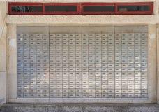Scatole della posta dell'ufficio postale Fotografia Stock
