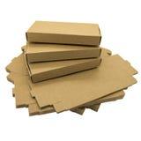 Scatole di carta di Brown immagine stock