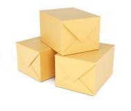 Scatole di cartone Immagine Stock