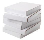 Scatole di cartone in bianco Fotografie Stock Libere da Diritti
