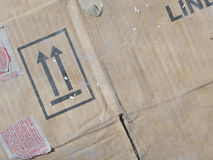 Scatole di cartone di Brown dal vecchio Fotografia Stock