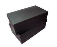 Scatole di cartone nere Fotografie Stock