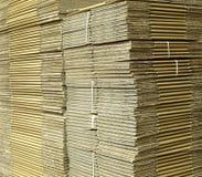 Scatole di cartone ondulate Immagini Stock Libere da Diritti