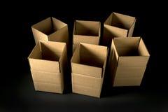 Scatole di cartone vuote Immagine Stock Libera da Diritti