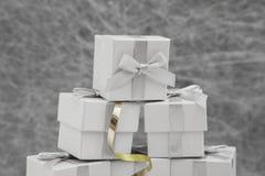 Scatole di favore di nozze fotografie stock libere da diritti