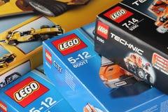 Scatole di LEGO Immagine Stock