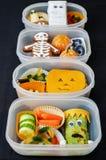 Scatole di pranzo per Halloween Immagine Stock
