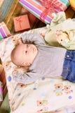 Scatole di regalo e del bambino Fotografia Stock Libera da Diritti