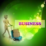 scatole di trasporto dell'uomo con un carrello Fotografia Stock Libera da Diritti