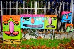 Scatole dipinte divertenti Fotografia Stock