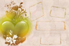 Scatole fiorite romantiche della nota Immagini Stock