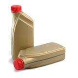 Scatole metalliche con olio a macchina Fotografie Stock