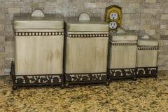 Scatole metalliche della cucina Immagine Stock
