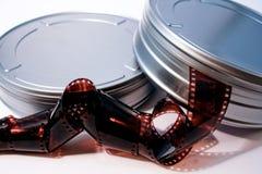 Scatole metalliche della pellicola fotografia stock libera da diritti
