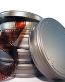 Scatole metalliche della pellicola immagini stock libere da diritti