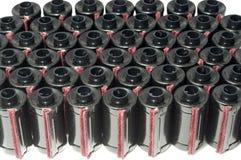 scatole metalliche della pellicola di 35mm Fotografia Stock